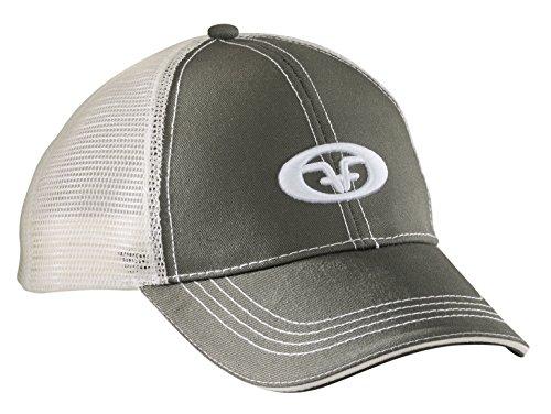 Flying Fisherman Logo Trucker Cap, Moss/Stone