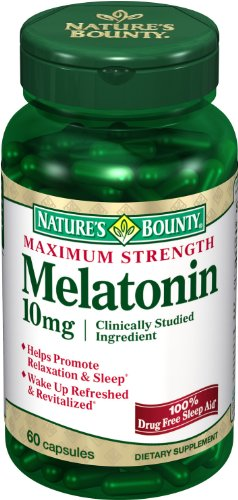 Nature Bounty Capsules résistance maximale à la mélatonine 10mg, 60-Count