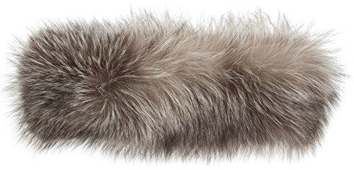 Finn Fox Fur Convertible Headband and Neck Warmer, INDIGO, Size 1 Size by Overland Sheepskin Co