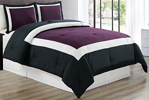 purple black bedding full - 4