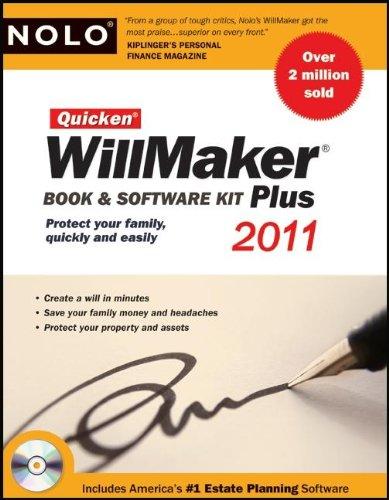 Quicken Willmaker 2011 Edition: Book & Software Kit (Quicken Willmaker Plus)