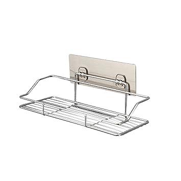OUNONA - Estantes de Pared para baño (Acero Inoxidable, para Almacenamiento de Ducha, sin Perforaciones, tamaño S)