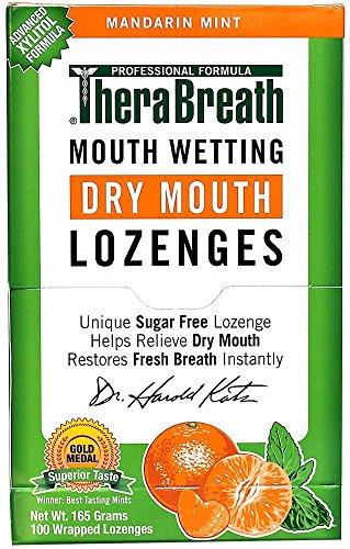 TheraBreath Mouth Wetting Lozenges, Mandarin Mint (100 ea)