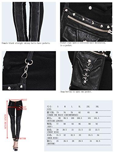 Devil Fashion - Pantalón - Ajustada - para mujer