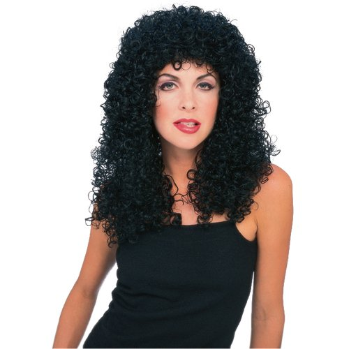 [Rubie's Costume Flowing Curly Wig, Black, One Size] (Sonny And Cher Costumes Amazon)