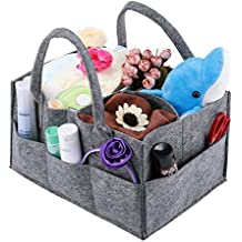 Baby Diaper Caddy, Magicfly Portable Nursery Storage Bin for Home Nursery and Car, Diaper Storage Basket Caddy Organizer with Changeable Compartments for infant Items, Wipes, Lotion