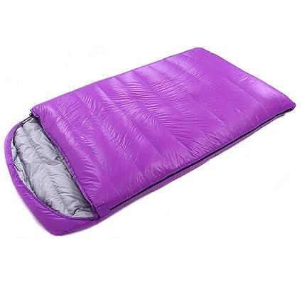 LOLIVEVE Ultraligero Que Acampa Doble Saco De Dormir Invierno Otoño sobre Pato Abajo Doble Abajo