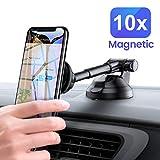 Car Phone Mount, Magnetic Dashboard Car Holder 6 Strong...