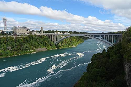 (Home Comforts Peel-n-Stick Poster of Rainbow Bridge Niagara Border USA River Bridge Vivid Imagery Poster 24 x 16 Adhesive Sticker Poster Print)