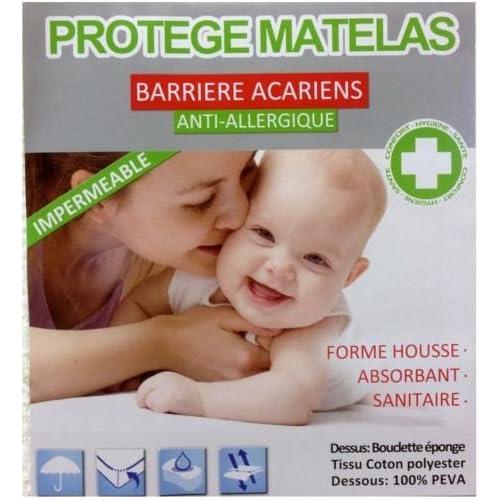 Douceur de Nuits DR1146_1 Protection Matelas Blanc 90 x 200 cm