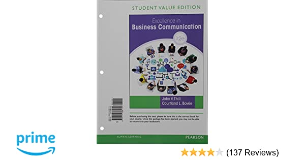 Excellence in business communication student value edition 12th excellence in business communication student value edition 12th edition 9780134388175 business communication books amazon fandeluxe Choice Image