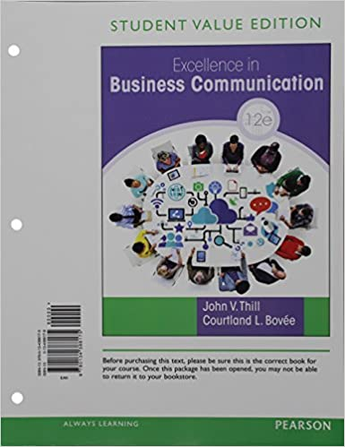 Excellence in business communication student value edition 12th excellence in business communication student value edition 12th edition 12th edition fandeluxe Choice Image