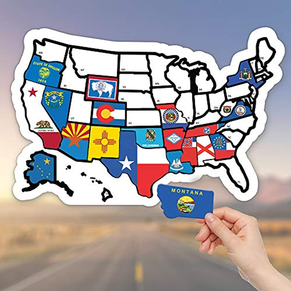 Details about RV State Sticker Travel Map - 11\