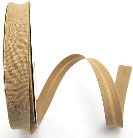 braun Meterware beige Creme 1meter Polyester-Baumwolle Schr/ägband 30mm