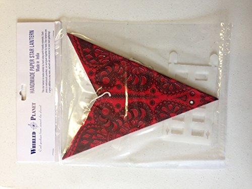 Star Light Peacock Star Lantern in Red