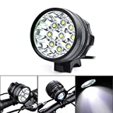 ZWC Marsing 5500lm 9xCree XM-L T6 LED 3-Modes Cool White Bike Light / Headlamp - Black (6 x 18650) , 6000-6500k