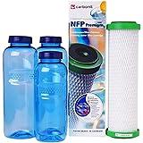NFP-Premium-9 Carbonit Paket Familie - inkl. 3 TRITAN-Flaschen - frei von Bisphenol-A