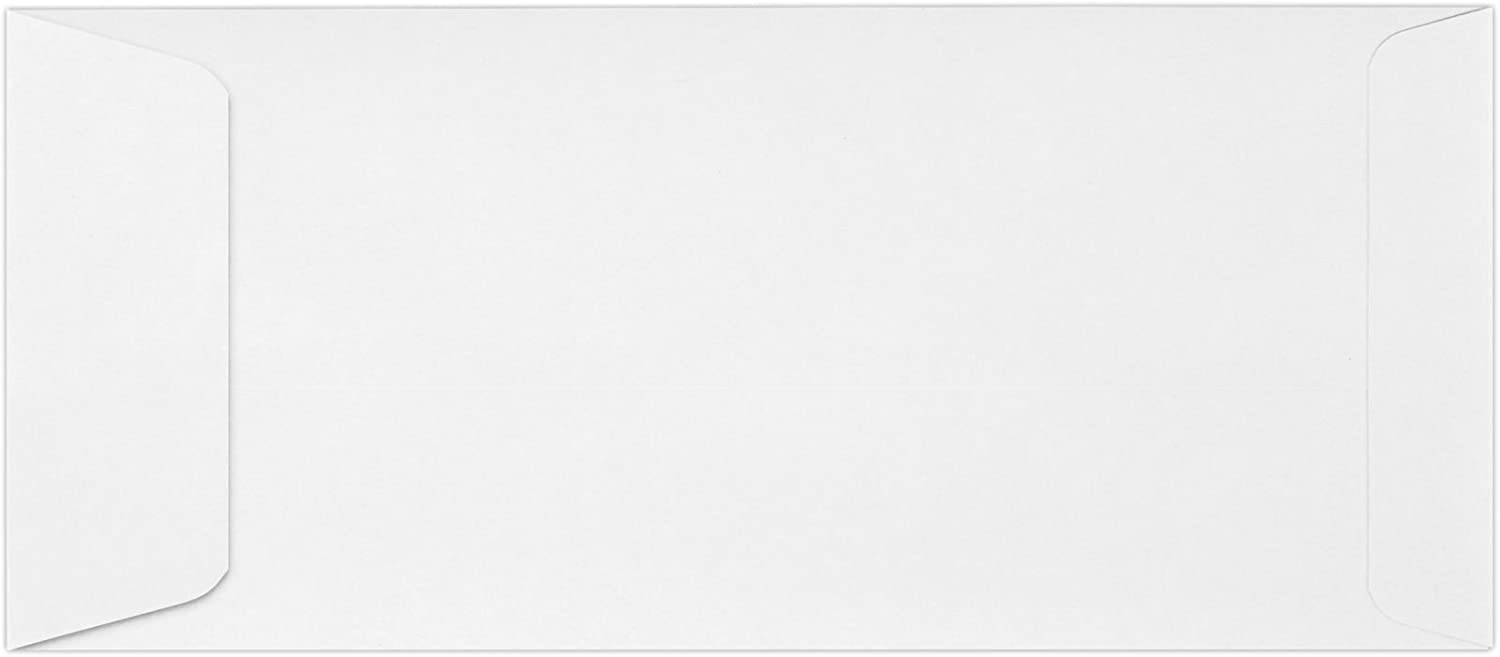 #10 Open End Envelopes (4 1/8 x 9 1/2) - 80lb. Bright White (50 Qty) | Perfect for Checks, Invoices, Letterhead, Letters, Statements | 7535-50