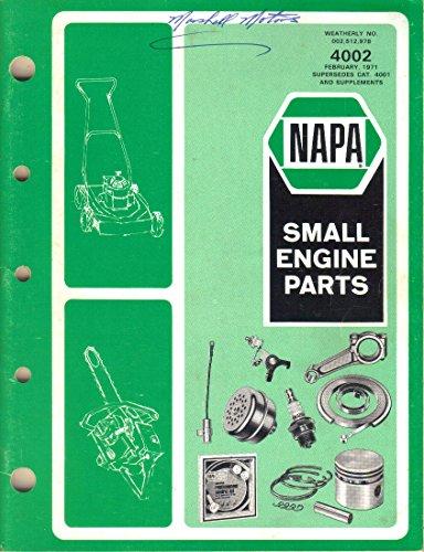- NAPA Small Engine Parts Catalog 4002, February 1971