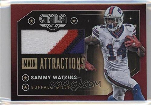 Football NFL 2016 Gala Main Attractions Memorabilia Crimson #33 Sammy Watkins MEM /10 Bills by