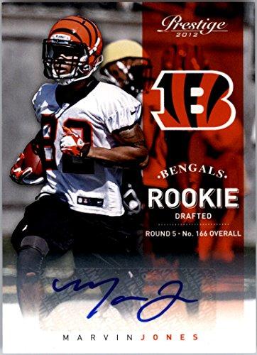 2012 Prestige Rookie Autographs #286 Marvin Jones Autograph Card Serial (2012 Prestige Autograph)