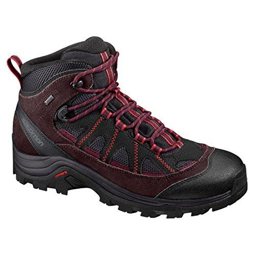 Salomon Women's Authentic LTR GTX W Boots, Berry Multicoloured (Phantom / Fudge / Mineral Red)