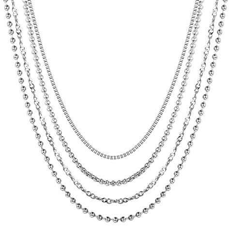 stainless steel 16 necklace - 3