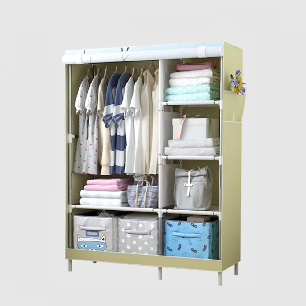 f/ür platzsparende KEOA Faltschrank Stoffschrank Kleiderschrank 105 * 45 * 170cm Portable Garderobe Textilschrank mit Kleiderstange Furniture Bedroom Wardrobes ,a