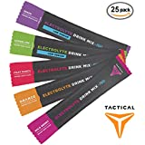 Tactical Hydration Powder, Instant Electrolytes, Reduce Fatigue, Prevent Dehydration, Eliminate Cramps (Variety Pack, 25 Stick Packs)