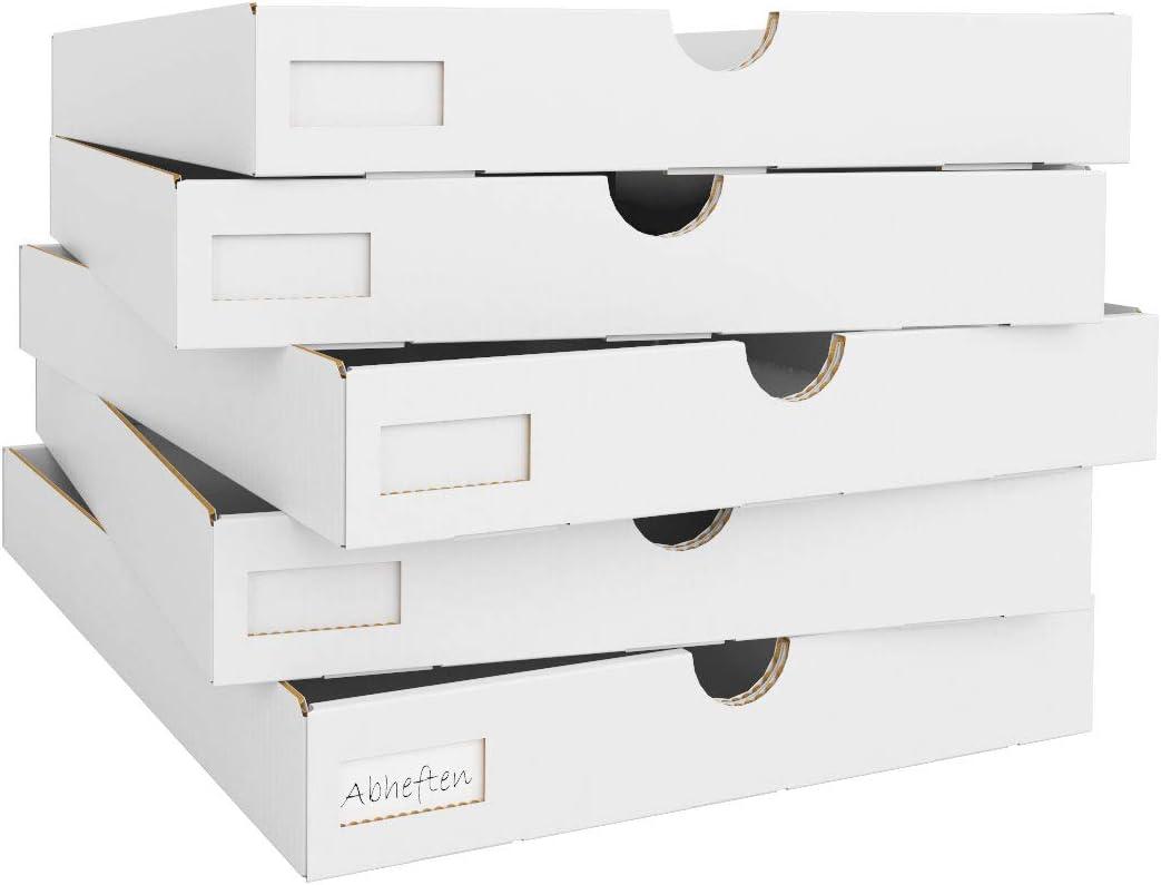Superelch - Cajones de cartón IKEA Kallax para estantería, Cajas de Papel, Cajas Plegables para la Oficina del hogar, Habitaciones de Trabajo, Habitaciones de Manualidades, Juego de 5 con Etiquetas: Amazon.es: Hogar