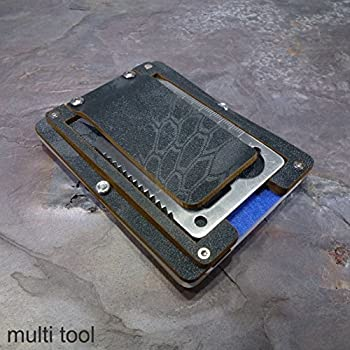 MultiWallet Typhoon Edition. Kydex Tactical Wallet With Money Clip and Multitool
