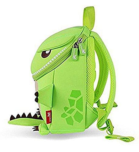 Hanaya School Kids Cartoon Bolsa de regalo, los niños escuela Mochilas, las niñas niños mochilas, bolsas de escuela, niño y niñas de la escuela mochilas, color naranja dinosaurio (13* 10.2* 6,3pulg Green-10.6*9.1*3.7 inch