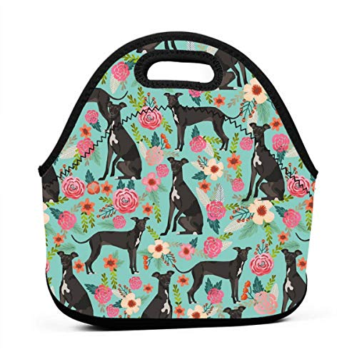Lunch Bag Italian Greyhound Food Container Container for Women Men Teens, Work School Picnic Bbq Lunch Container Neoprene Totebox Portable Snacks Organizer