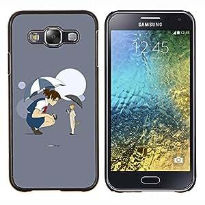 """Be-Star Único Patrón Plástico Duro Fundas Cover Cubre Hard Case Cover Para Samsung Galaxy E5 / SM-E500 ( Funy Cat & Girl"""" )"""