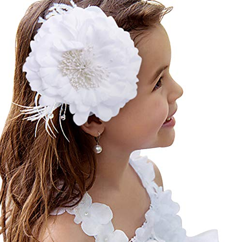 Glamulice Girls Birthday Party Head Clips 1920s Feather Sash Fancy Princess Feather Headpiece Party Pageant Headband