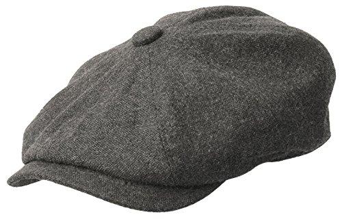 Rooster Wool Tweed Newsboy Ivy Cap Gatsby Golf Driver Hat (Medium, Gray)