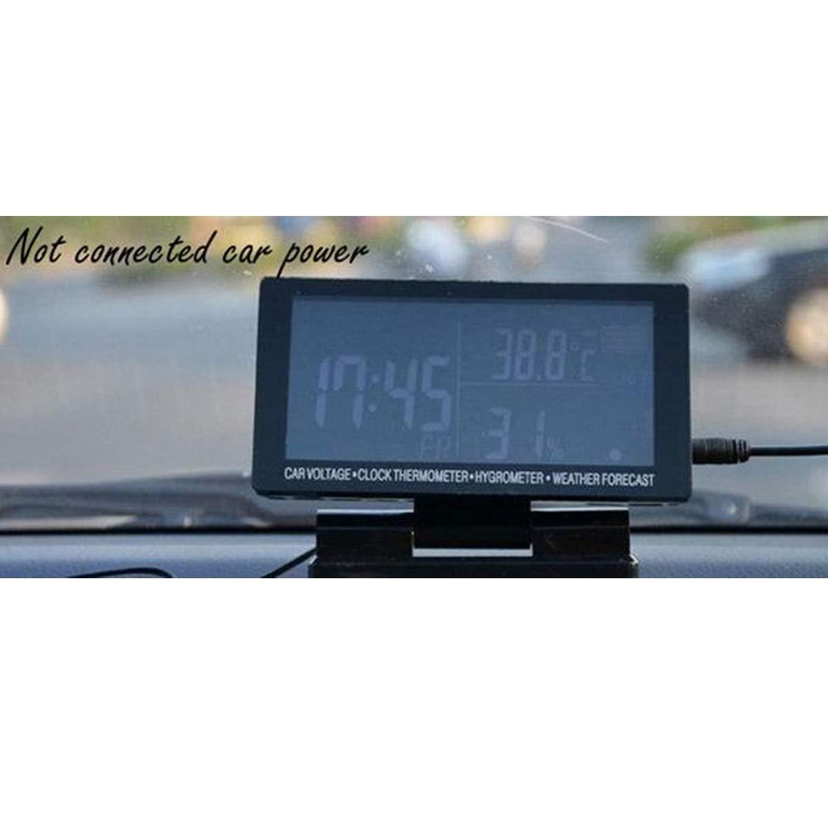 DONGMAO Auto-Thermometer-Hygrometer-Volt-Wettervorhersage des LCD-Digitaluhr-Zeitmessers