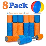 VCOSTORE Water Blaster Foam Gun 8 Pack,Lightweight Foam Soaker Water Gun Set for Kid Summer Swimming Pool Beach Game Toys