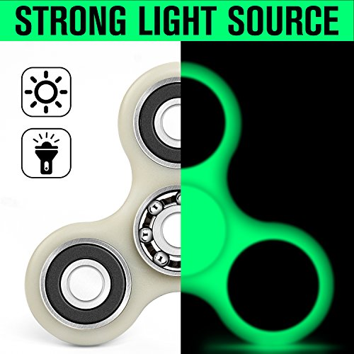 Fluorescent Light Anxiety: LYNEC Fidget Spinner, Hand Spinner Bearing With Luminous