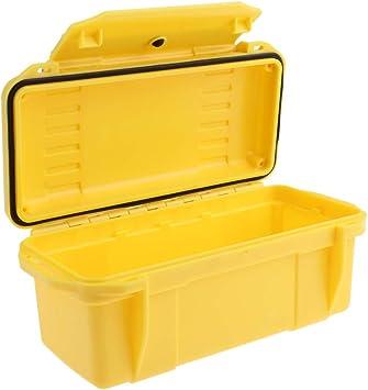 Caja Impermeable A Prueba De Golpes Caja De Supervivencia Hermética Caja De Transporte De Almacenamiento De Contenedores - Amarillo: Amazon.es: Deportes y aire libre