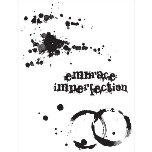 Tim Holtz Collection Stamper - Stampers Anonymous Tim Holtz Cling Rubber Stamp Set, 7-Inch by 8.5-Inch, Spills and Splatters