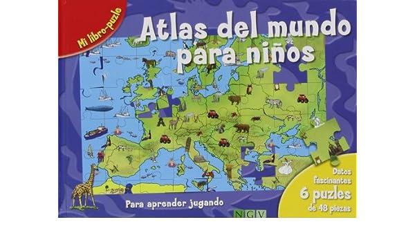ATLAS DEL MUNDO PARA NI OS.(LIBRO-PUZLE): Varios: 9783862338504: Amazon.com: Books