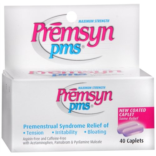 Premsyn Pms Caplets Maximum Strength, 40 capsules (Pack of 3) by Unknown
