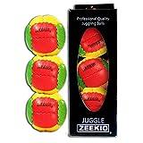 Zeekio Galaxy Juggling Ball Gift Set- 3 Juggling Balls - Yellow/Red/Green-Rasta