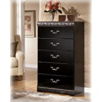 Traditional Black Bedroom Chest in Glossy Finish