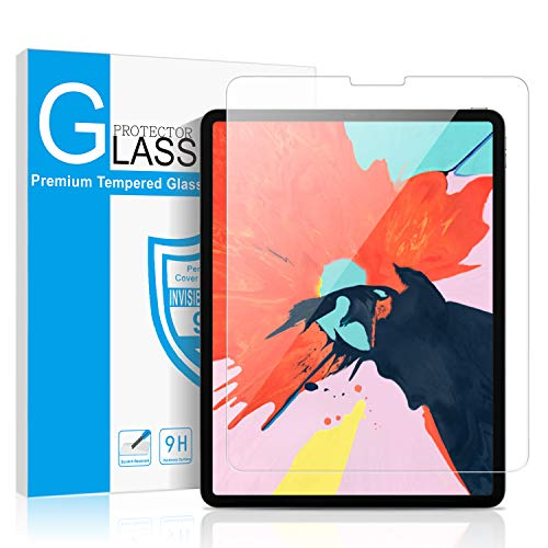 New iPad Pro 11 Screen Protector, SMAPP Tempered Glass Screen Protector for Apple iPad Pro 11-inch (2018 Release) Tablet [Anti-Cratch] 9H Hardness [No-Bubble] HD Clear Compatible [Face ID] Function