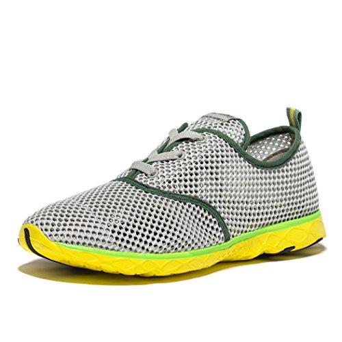 daillor Hombres secado rápido cordones Aqua zapatos de exterior gris/verde