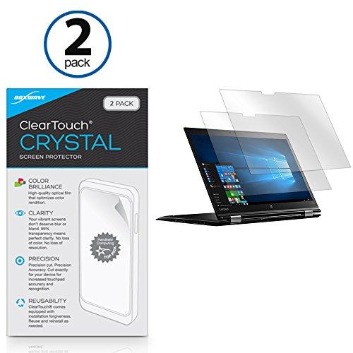Lenovo Thinkpad X1 Yoga Screen Protector, BoxWave [ClearTouch Crystal (2-Pack)] HD Film Skin - Shields From Scratches for Lenovo Thinkpad X1 Yoga
