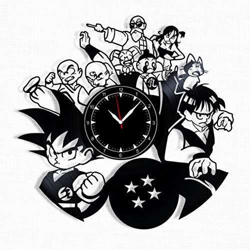 (Dragon Ball Z Vinyl Record Clock - Dragon Ball Wall Clock - Best Gift for Fans Dragon Ball Z - Original Wall Home)