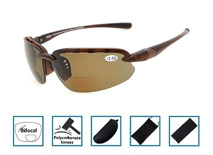 Gr8Sight gafas de sol de lectura bifocales marco medio sin montura lectores de sol vidrios polarizados